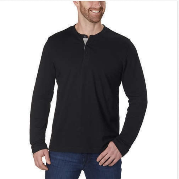 Kenneth Cole Other - Kenneth Cole Men's Long Sleeve Henley Size XL BLAC